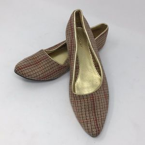 Old Navy Plaid Wool Flats 10